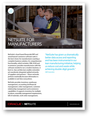 NetSuite-Manufacturing